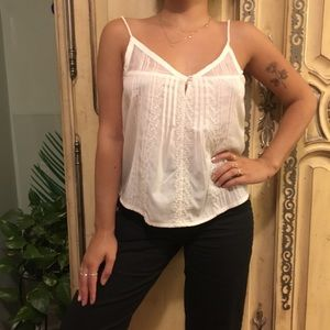 Beautiful cream colored cami with delicate details